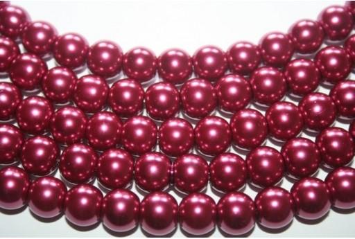 Perline Vetro Porpora Sfera 10mm - Filo 44pz