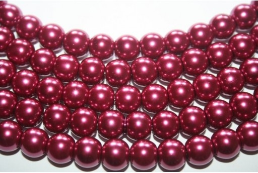 Glass Beads Purple Red Sphere 10mm - Filo 44pz
