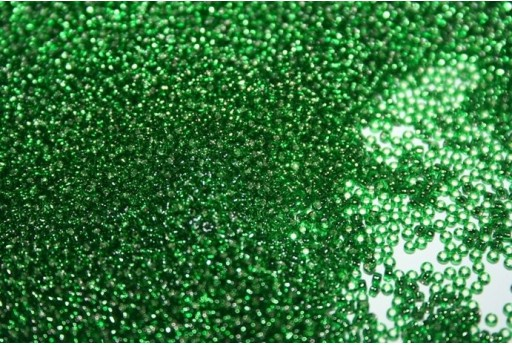 Perline Toho Round Rocailles 15/0, 10gr. Silver-Lined Grass Green