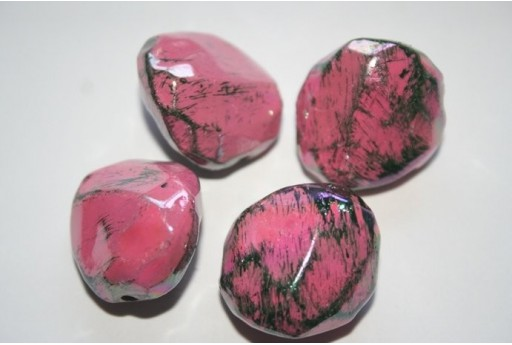 Acrylic Beads Pink Rock 23x24mm - 6Pz