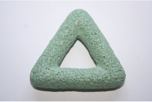 Pendant Lava Rock Aqua Green Triangle 54x51mm - 1pz