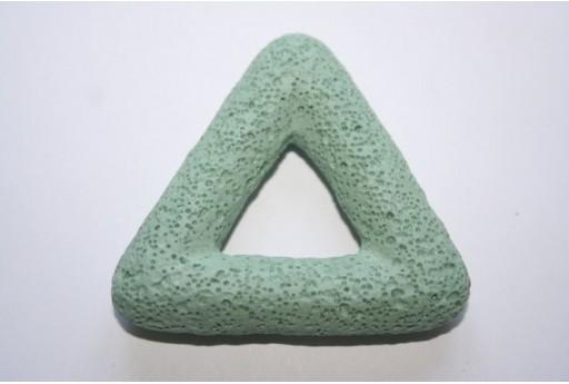 Pendente Lava Verde Acqua Triangolo 54x51mm - 1pz