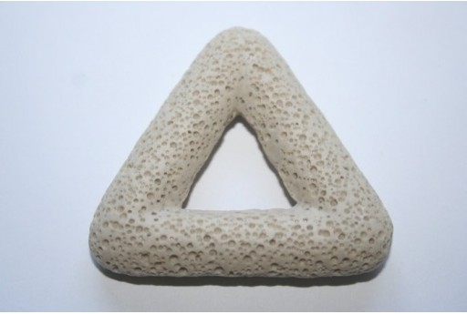 Pendant Lava Rock Beige Triangle 54x51mm - 1pz