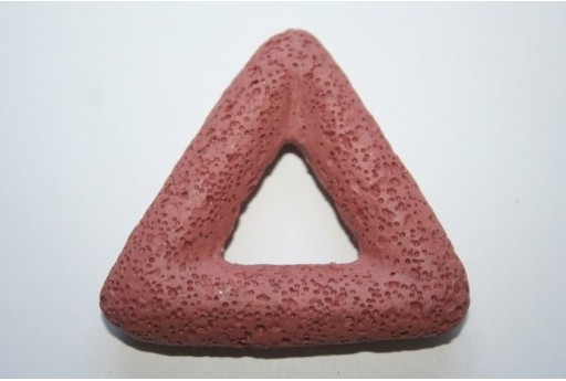 Pendant Lava Rock Brick Red Triangle 54x51mm-1pz