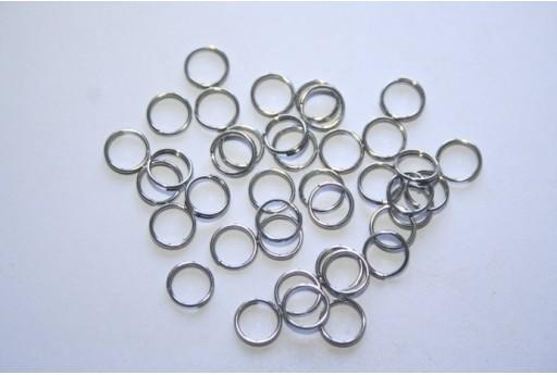 Platinum Plated Split Rings 6mm - 3g