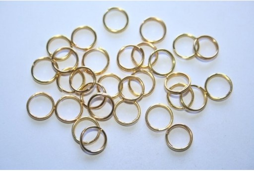 Gold Plated Split Rings 8mm - 4g