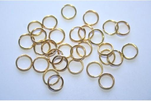 Gold Plated Split Rings 8mm - 4g