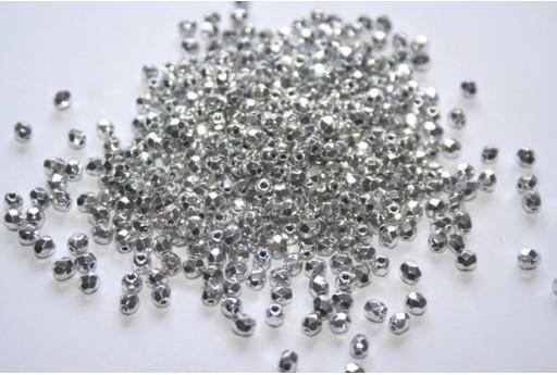 Perline Mezzi Cristalli Silver 3mm - 60pz