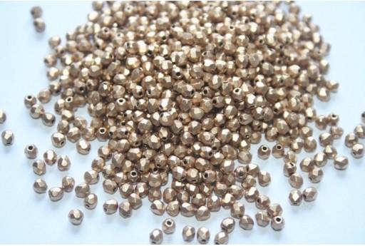 Perline Mezzi Cristalli Matte Metallic Flax 3mm - 60pz