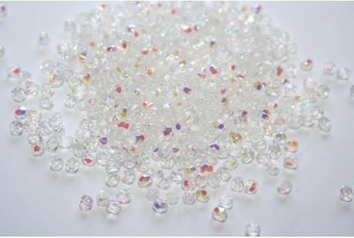 Perline Mezzi Cristalli Crystal AB 3mm - 60pz