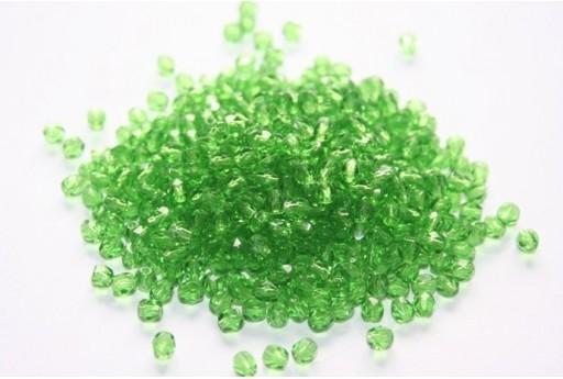 Perline Mezzi Cristalli Green