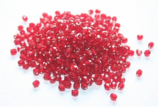 Perline Mezzi Cristalli Silver Lined Siam Ruby