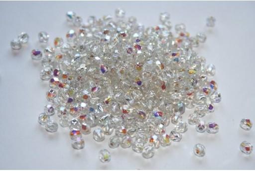 Perline Mezzi Cristalli Silver Lined Crystal AB 4mm - 60pz