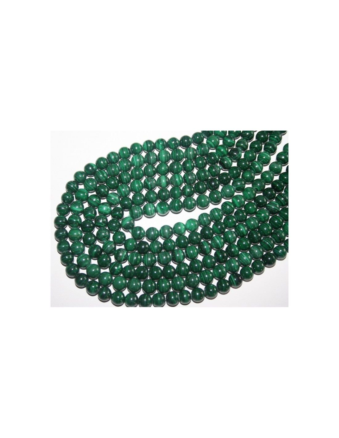 malachite beads sphere 8mm 1pz
