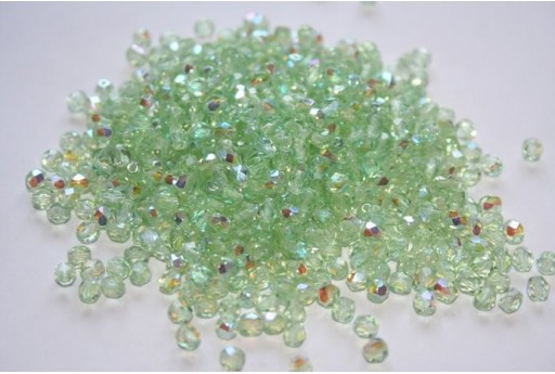 Fire Polished Beads Peridot AB 4mm - 60pz