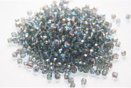 60 Perline Mezzi Cristalli 4mm Crystal Col.00030
