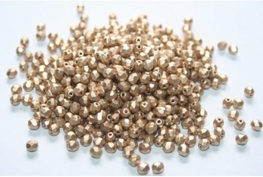Fire Polished Beads Matte Metallic Flax 4mm - 60pz