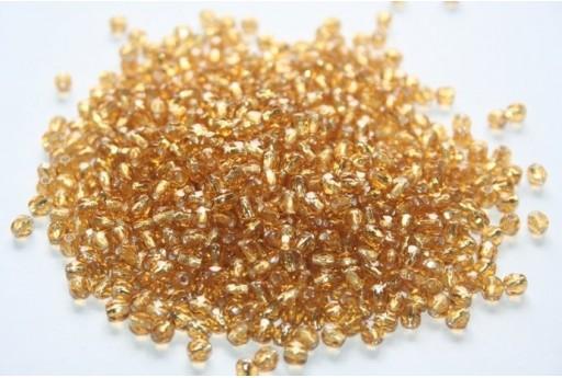 Perline Mezzi Cristalli Silver Lined-Topaz