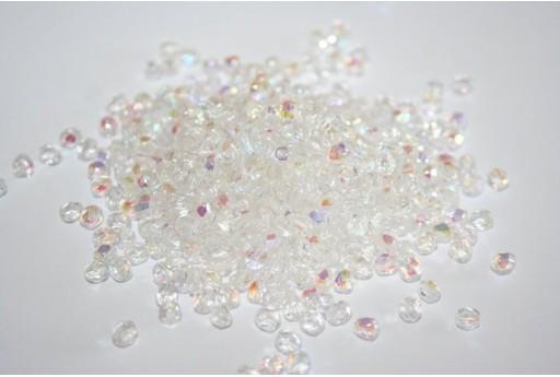 Perline Mezzi Cristalli Crystal AB Col.X00030