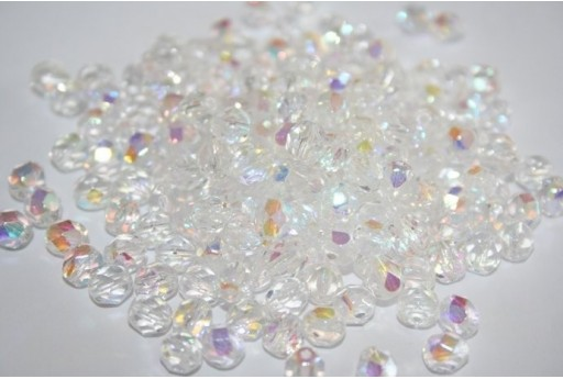 Perline Mezzi Cristalli Crystal AB 6mm - 30pz