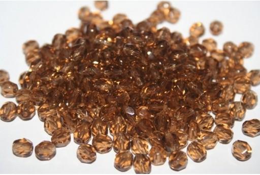 Perline Mezzi Cristalli 6mm, 30pz, Smoky Topaz Col.10220