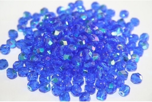 Perline Mezzi Cristalli 6mm, 30pz, Sapphire AB Col.X30060