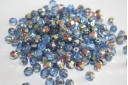 Perline Mezzi Cristalli 6mm, 30pz, Vitral-Sapphire Col.V30030