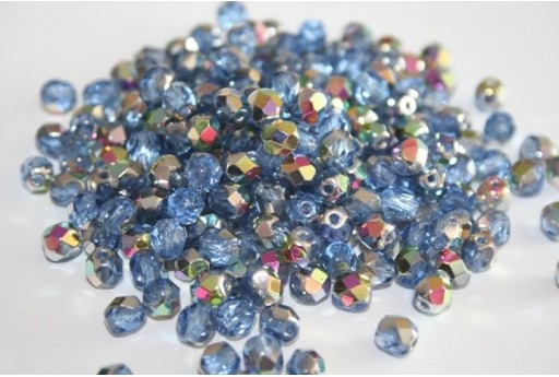 Fire Polished Beads 6mm, 30pz, Vitral-Sapphire Col.V30030