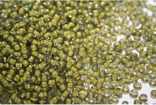 Perline Toho Round Rocailles 6/0, 10gr., Luster Black Diamond/Opaque Yellow Col.246
