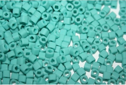 Perline Toho Cubo 4mm, 10gr., Opaque-Frosted Turquoise Col.55F