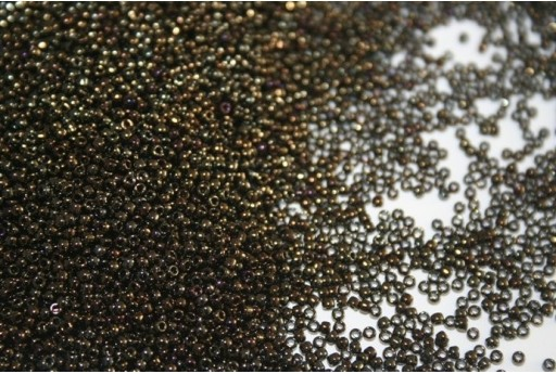Toho Seed Beads 15/0, 10gr. Metallic Iris Brown