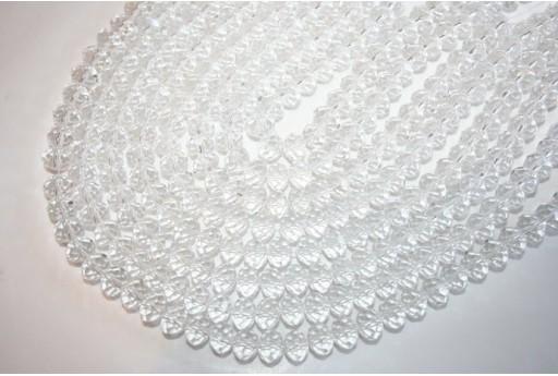 Filo 70 Perline Vetro Crystal Rondella Sfaccettata 8x6mm VE62G