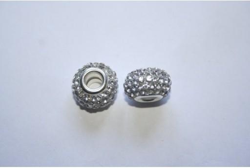 Large Hole Beads Rondelle Rhinestone Crystal 15x10mm PAN29C