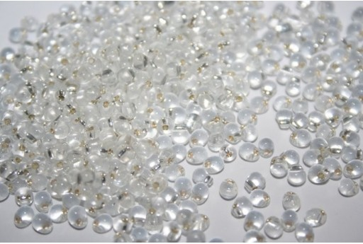 Miyuki Drops Beads Crystal Silver-Lined 3,4mm - 10gr