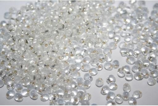 Perline Miyuki Drops Crystal Silver-Lined 3,4mm - 10gr