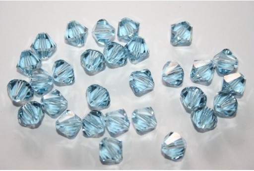 Swarovski Bicones Aquamarine 8mm - 5pcs 5328