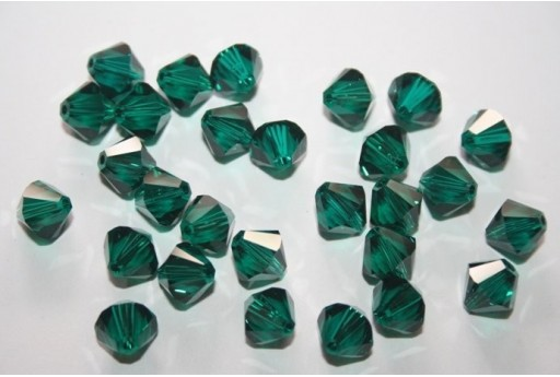5 Bicono Swarovski Emerald 8mm 5328