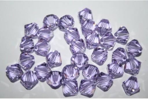 5 Bicono Swarovski Violet 8mm 5328