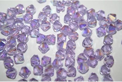 Bicono Swarovski Violet AB 5328 6mm - 6pz