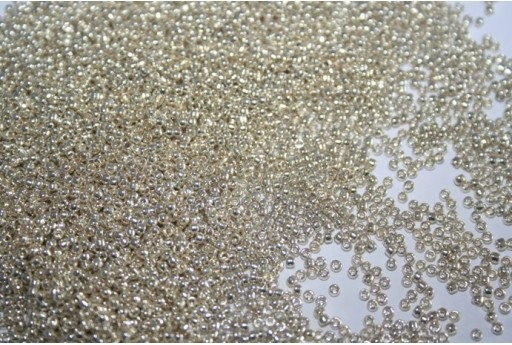 Perline Toho Round Rocailles 15/0, 10gr. Permanent Finish-Galvanized Silver