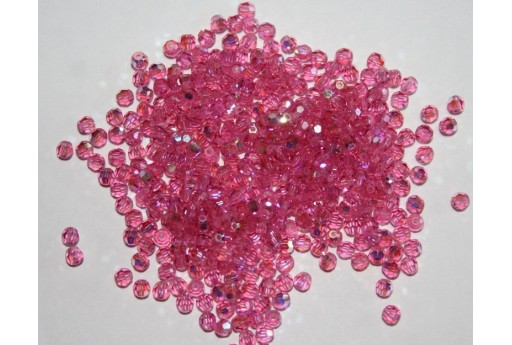 Round Swarovski Rose AB 3mm - 10pz