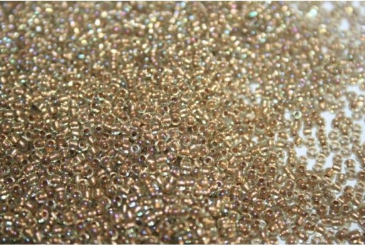 Perline Toho Round Rocailles 11/0, 10gr. Gold-Lined Rainbow Lt Jonquil Col.998