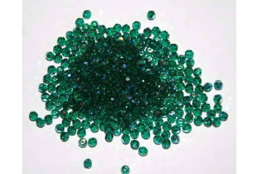 Round Swarovski Emerald AB 3mm - 10pz