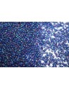 Toho Seed Beads 11/0, 10gr. Transparent-Rainbow-Frosted Cobalt Col.87DF