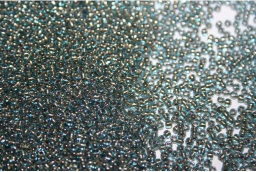 Perline Toho Round Rocailles 11/0, 10gr. Gold-Lined Aqua Col.990
