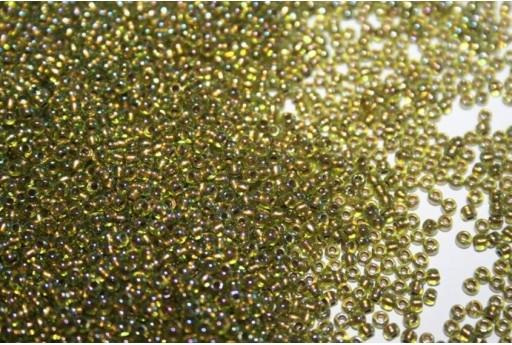 Toho Seed Beads 11/0, 10gr. Gold-Lined Rainbow Peridot Col.996