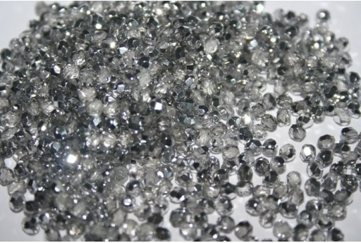 Fire Polished Beads Silver 1/2 3mm - 60pz