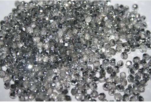Perline Mezzi Cristalli Silver 1/2 3mm - 60pz