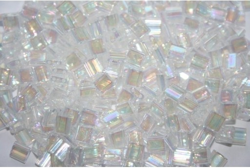 Miyuki Tila Beads Transparent Rainbow Crystal AB 5mm - 5gr