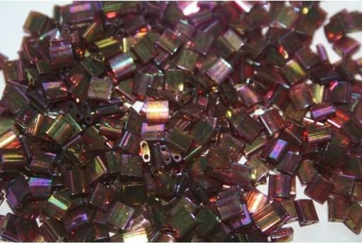 Miyuki Tila Beads Rose/Gold Rainbow Luster 5mm - 5gr